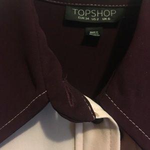 Topshop Tops - Topshop two-tone shirt